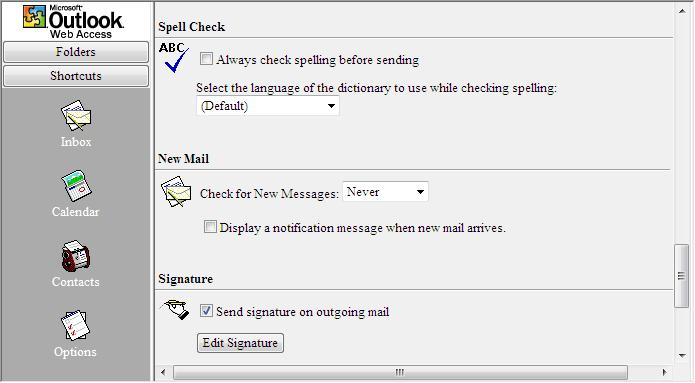 Spell check settings